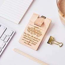 Load image into Gallery viewer, Personalized Wooden Card Shape Usb, Best Gift for boss, Best gift for colleague, Best gift for man, Unique Gift in Malaysia, Office Gift in Malaysia