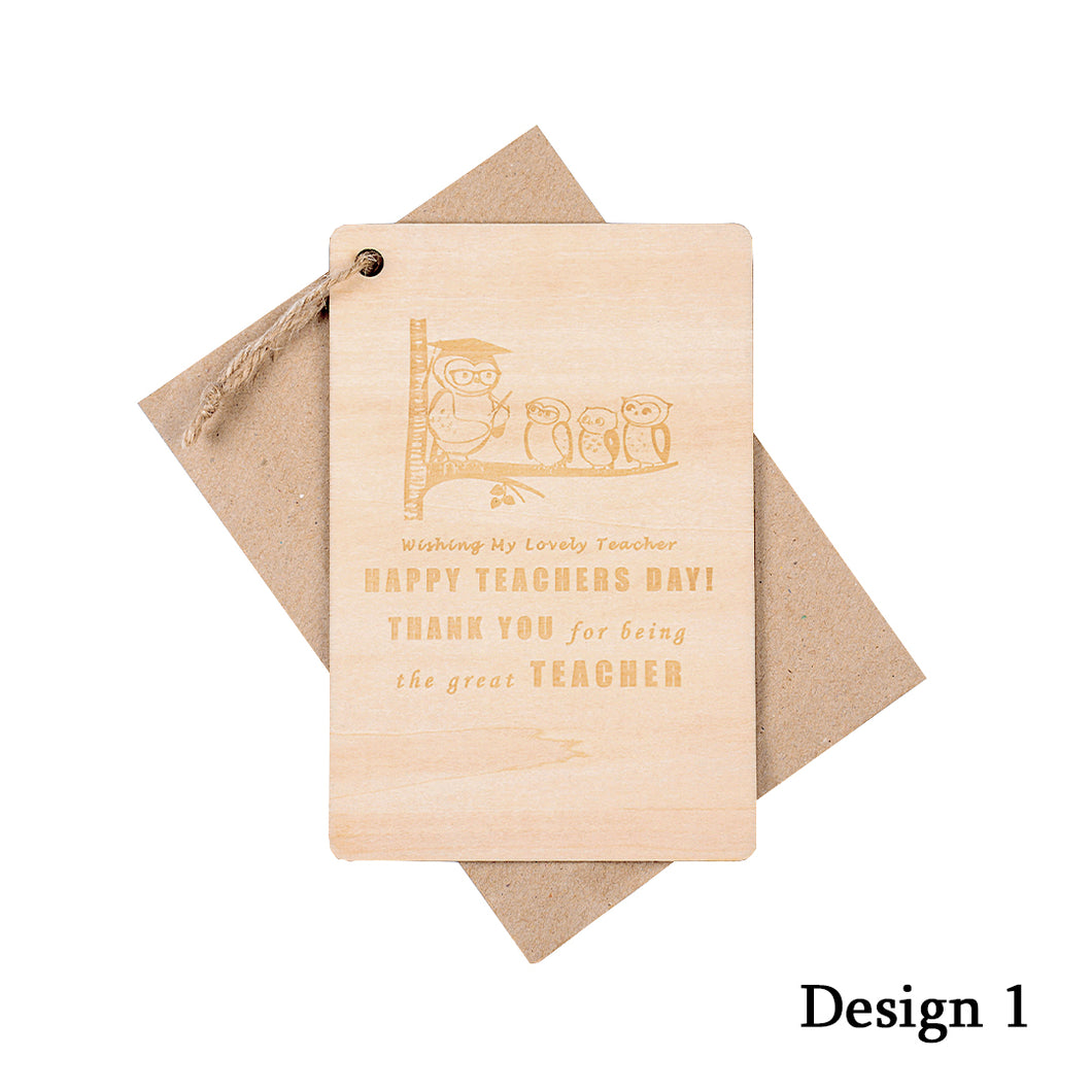 Personalized Wooden Card For Teacher