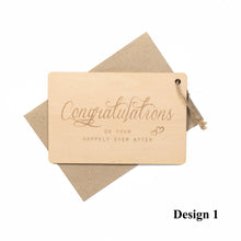 Load image into Gallery viewer, Personalized Wooden Card For Wedding