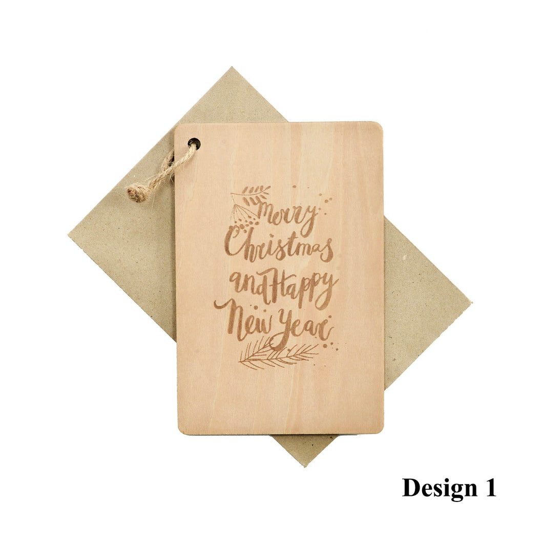 Personalized Wooden Card, Gift from NSJ Stylish Store, Special Gift Card, Wooden Gift Card, Gift for him, Gift for her, Special Customized Gift, SPecial Message Card, Special Gift Card, Unique Christmas Card, 特别的卡片,客制化圣诞卡片
