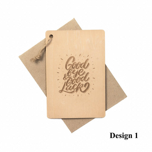 Personalized Wooden Card, Gift from NSJ Stylish Store, Special Gift Card, Wooden Gift Card, Gift for him, Gift for her, Special Customized Gift, SPecial Message Card, Special Gift Card, Farewell Gift Card, 特别的卡片,客制化退休卡片