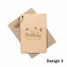 Load image into Gallery viewer, Personalized Wooden Card For Birthday