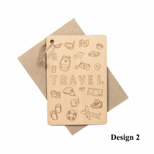Load image into Gallery viewer, Personalized Wooden Card For Traveller