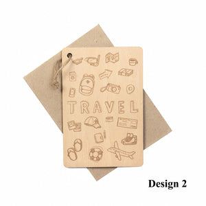 Personalized Wooden Card, Gift from NSJ Stylish Store, Special Gift Card, Wooden Gift Card, Gift for him, Gift for her, Special Customized Gift, SPecial Message Card, Special Gift Card, Special Gift for Traveller,特别的卡片,客制化旅游卡片