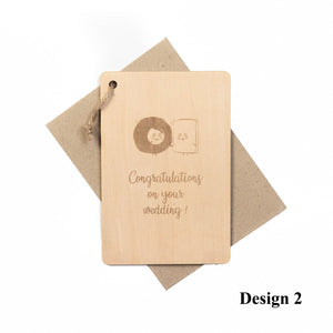 Personalized Wooden Card For Wedding