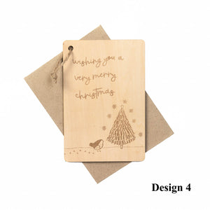 Personalized Wooden Card For Christmas