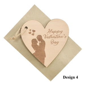 Personalized Wooden Card For Valentine