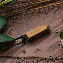 Load image into Gallery viewer, Handcrafted Personalized Wooden Necklace