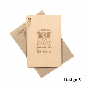 Personalized Wooden Card For Traveller
