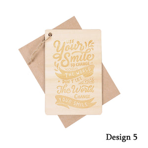 Personalized Wooden Card with Insprirational Quotes