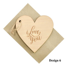 Load image into Gallery viewer, Personalized Wooden Card For Valentine