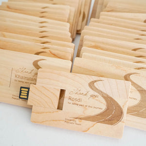 Personalized Wooden Card Shape USB Flash Drive