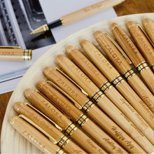 Load image into Gallery viewer, Personalized Bamboo Pen Set