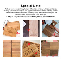 Load image into Gallery viewer, Personalized Bamboo Plaque
