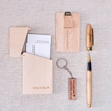Load image into Gallery viewer, Office Gift Set #02 - Pen, Card USB(16gb), Name Card Holder, Keychain, Wooden Box