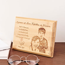 Load image into Gallery viewer, Personalized Bamboo Plaque from NSJ Stylish Store, unique personalized gifts, personalized gifts for boss, personalized gift for family, , personalized gift for friend, anniversary gift ideas for couples, art shop in malaysia, birthday gift delivery malaysia