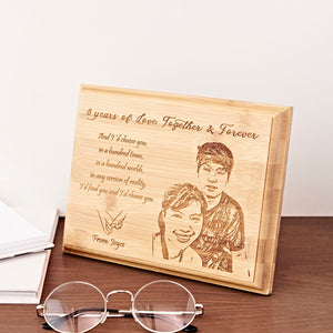 Personalized Bamboo Plaque from NSJ Stylish Store, unique personalized gifts, personalized gifts for boss, personalized gift for family, , personalized gift for friend, anniversary gift ideas for couples, art shop in malaysia, birthday gift delivery malaysia
