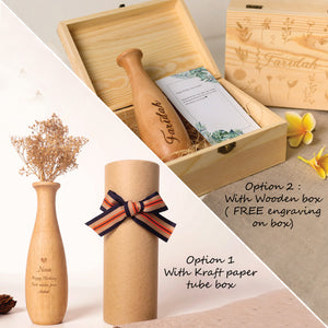 Personalized Wooden Vase