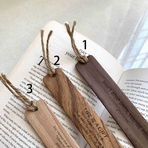 Personalized Wooden Bookmark
