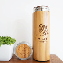 Load image into Gallery viewer, Personalized Bamboo Thermal Flask/ Thumbler