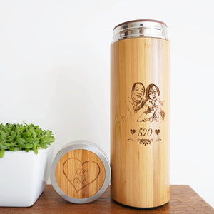 Personalized Bamboo Thermal Flask/ Thumbler