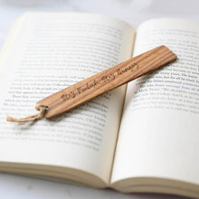 Load image into Gallery viewer, Personalized Wooden Bookmark, Gift for Book lover, Gift for Best Friend, Gift for Teacher, Gift for Collegue, Gift in Malaysia, Gift for Mother, Gift in Muar, Gift from NSJ Stylish Store