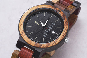 Personalized Wooden Watch – ColorL001AB (1 year warranty)