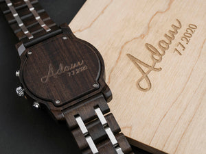Personalized Wooden Watch – GentW001 ( 1 year warranty)