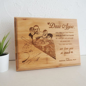 Personalized Bamboo Plaque
