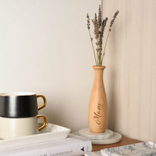 Load image into Gallery viewer, Personalized Wooden Vase, Special Gift for mother, Mother day gift, Gift for flower lover, Gift for bestie, Wooden home decoration product