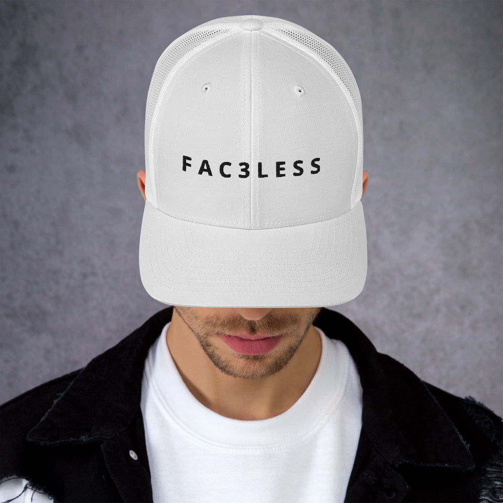 Meshed White Cap - FAC3LESS