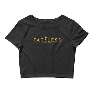 Original GOLD3N Cropped Tee | Black / Gold - FAC3LESS