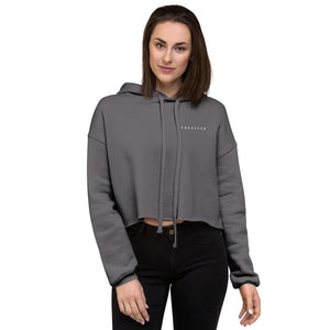 Women's Grey Crop Hoodie - FAC3LESS