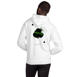 Clubs Playing Card Hoodie - FAC3LESS