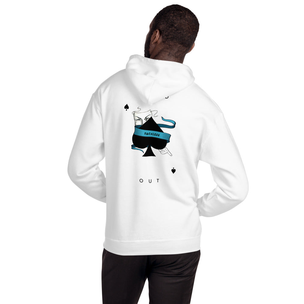 Spades Playing Card Hoodie - FAC3LESS