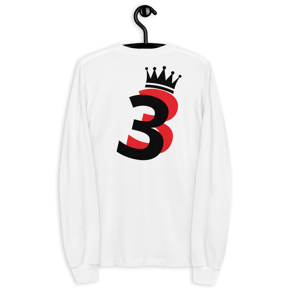 Original Crooked Crown Long Sleeved Tee | White - FAC3LESS