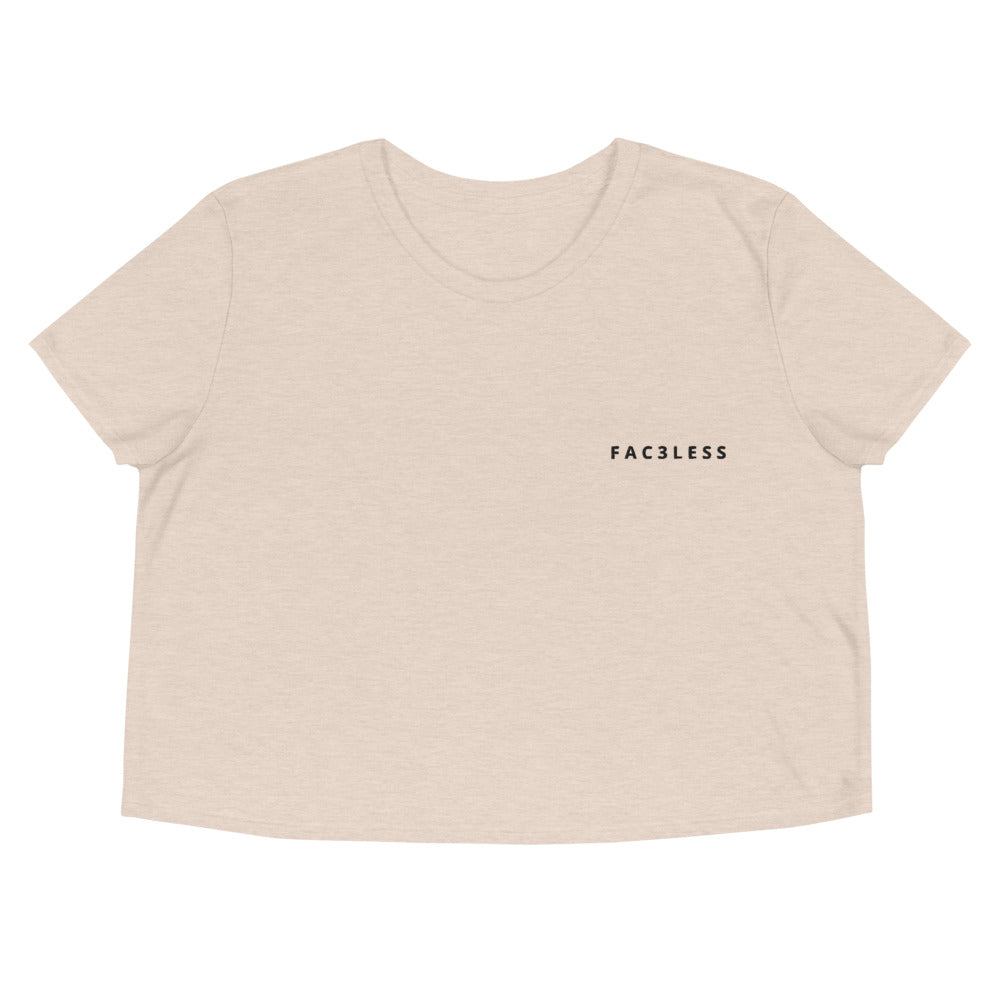 Embroidered Crop Top - FAC3LESS