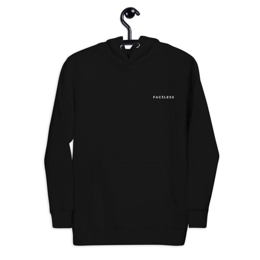 Original Embroidered Logo Hoodie | Black - FAC3LESS