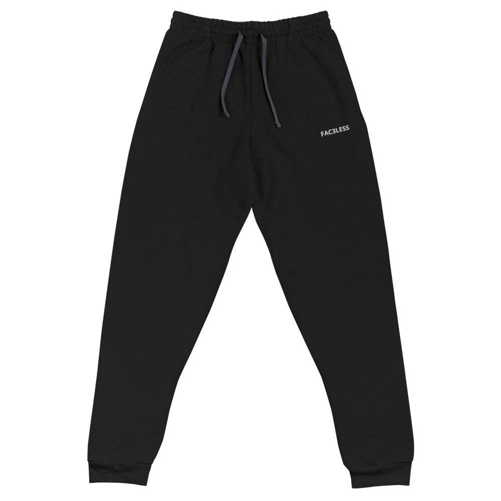 Dark Named Embroidered Joggers - FAC3LESS