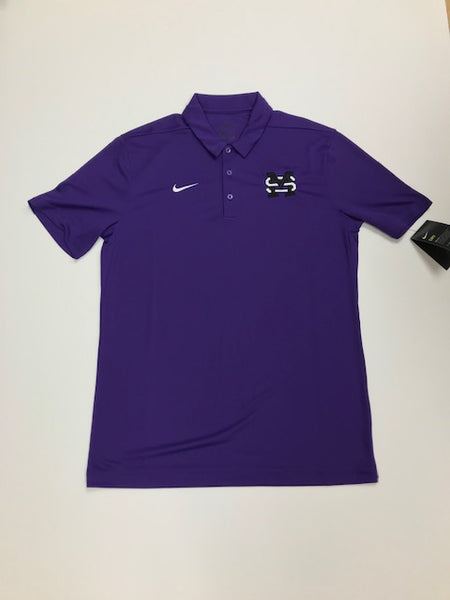 Men's Purple Nike Polo with MS Stamp