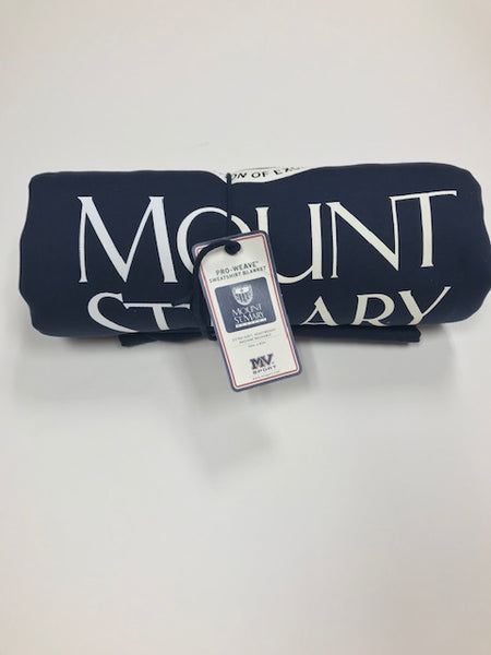 Navy Mount St. Mary Sweatshirt Blanket