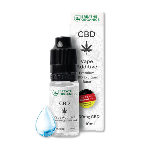 Breathe Organics - Vape Additive Base CBD E-Liquid 1000mg (10ml) - CBDHouse.shop