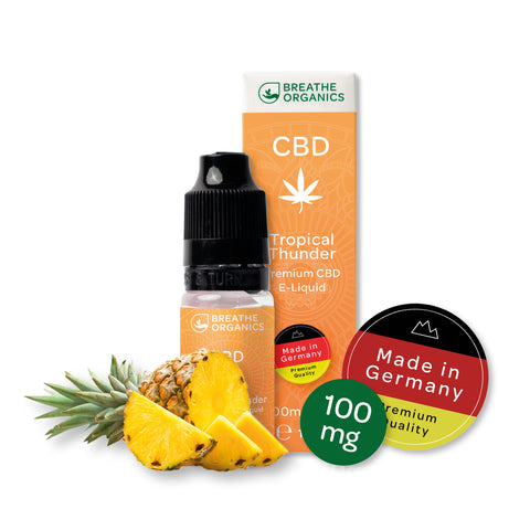 Breathe Organics - Tropical Thunder CBD E-Liquid (10ml) - CBDHouse.shop