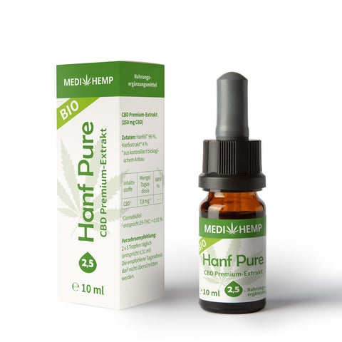 Medihemp Bio Hanf Öl Pure - 10ml/30ml - CBDHouse.shop