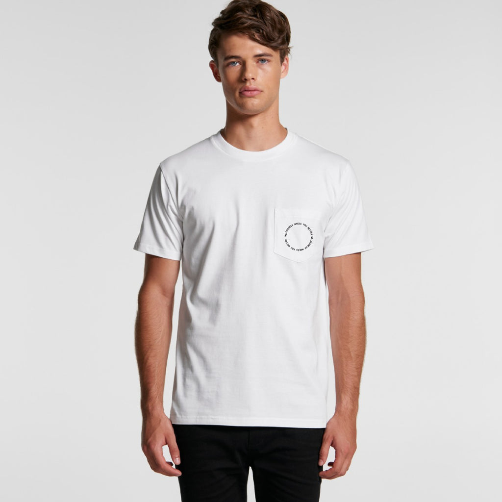 Circle Pocket Tee - White