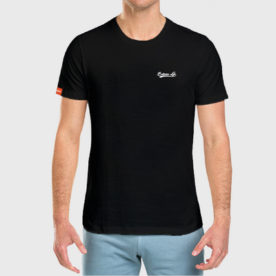 Native Crew Neck Embroidered Tee - Black