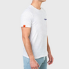 Native Crew Neck Embroidered Tee - Heather White