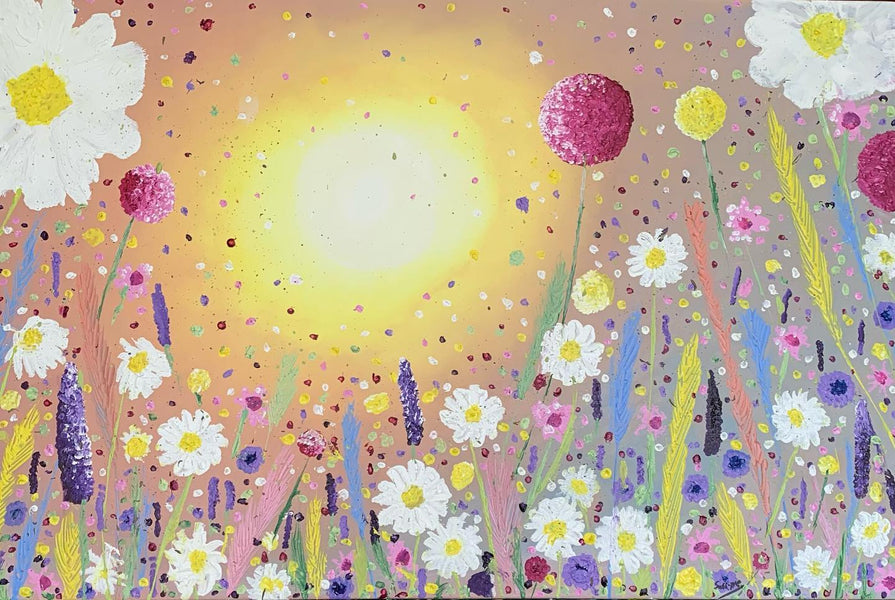 "NEW PAINTING!! ""Dancing Meadow"""
