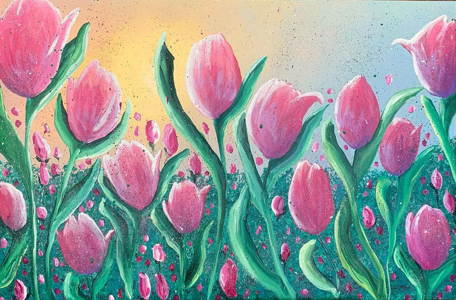 "NEW!! Check out my latest painting ""Tulips"""
