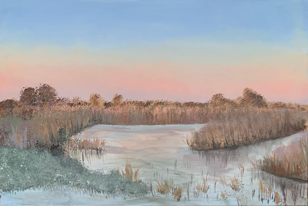 Winter Sky, Norfolk Broads - Limited Edition Canvas Print